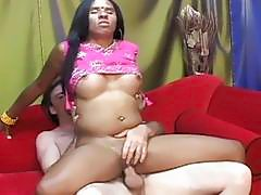 Fugly Indian babe bounces on fat cock like a pro