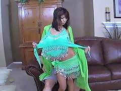 Horny white guy plows cock hungry Indian babe on sofa