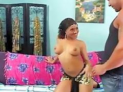Bigtits indian slut sucking fat white penis