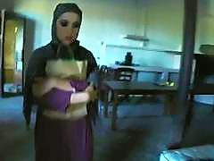 Petite Arab babe sucks meaty cock and gets tiny pussy violated