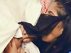 Kinky Arab babe deepthroat and gets pounded real deep