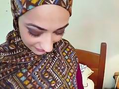 Arab chick receives big cock in mouth and pussy