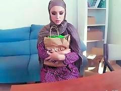 Arabian slut gets her big butt doggy styled in POV