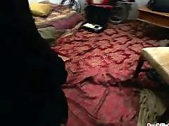 POV hairy arab girl getting smashed