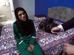 Slutty Arabian bitch fucked for big amount of cash